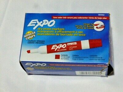 Expo Low-odor Dry-erase Markers Chisel Point Red Pack Of 12
