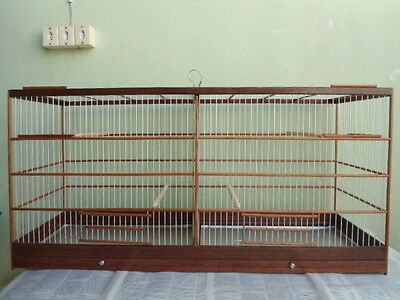 CAGE DE RECTANGULAIRE 75,5 CM  WOODEN BIRDS CANARY AS Curios CANARIOS