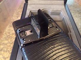 Genuine Vertu Signature Touch Jet Black Lizard - balance of warranty & fully boxed