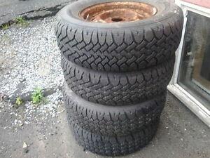 215/70 R14 Winter Tires on rims