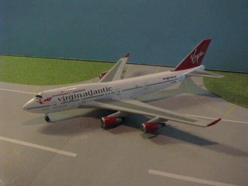 """GEMINI """"SAMPLE MODEL"""" VIRGIN ATLANTIC 747-400 1:400 SCALE DIECAST METAL MODEL"""