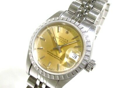 Auth ROLEX Oyster Perpetual Date 69240 Silver Women