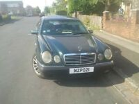 Left hand drive Mercedes E280 petrol-lpg gas. ideal for export £1299