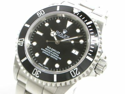 Auth ROLEX Sea-Dweller 16600T Silver Black Men's Wrist Watch Y882953