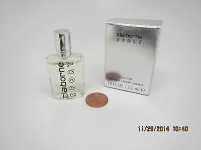CLAIBORNE SPORT HOMME/MEN COLOGNE MINI.25oz/7.5ml Splash FULL HARD to FIND ()