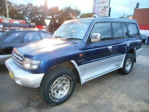 1998 Mitsubishi Pajero NL GLS LWB (4x4) Blue 4 Speed Automatic Wagon Croydon Burwood Area Preview
