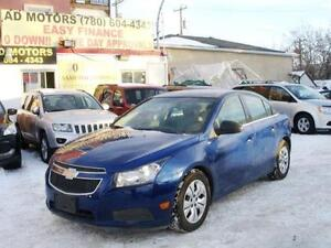 """REDUCED"" 2012 CHEVROLET CRUZE LOADED 48K-100% APPROVE FINANCING"