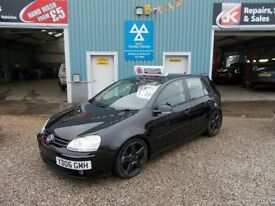 VOLKSWAGEN GOLF 2.0 GT TDI 5d 138 BHP 6 speed turbo diesel sat nav (black) 2006