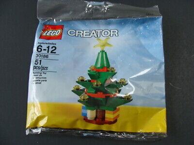 New LEGO Creator Christmas Tree 30186 Polybag Seasonal Poly Bag 51pc Holiday NIP