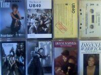 A-Z TINA TURNER, 2x UB40, U2, VERVE, VISAGE, 2x DIONNE WARWICK PRERECORDED CASSETTE TAPES