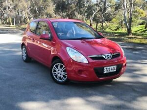 2011 Hyundai i20 PB MY11 Active Red 5 Speed Manual Hatchback Mile End South West Torrens Area Preview