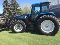 New Holland 8360 125hp Tractor with Loader and Grapple Fork