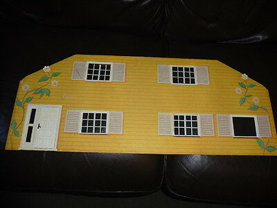 VINTAGE 1970's LUNDBY DOLLS HOUSE YELLOW FRONT