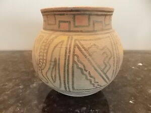 ancient Indus Valley clay pottery painted art bowl