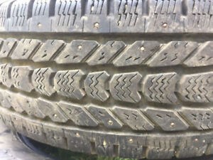 LT265/70R17 STUDDED WINTER TIRES 10PLY LIKE NEW