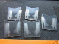 5 ( Five ) Wall Mounted Leaflet Brochure Holders . £15 for the lot