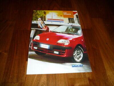 Fiat Seicento Prospekt 10/2000 na sprzedaż  Wysyłka do Poland