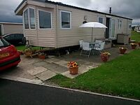 gold rated static caravan for hire , sandy bay holiday park , northumberland