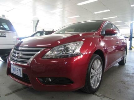 2013 Nissan Pulsar B17 TI Cayenne Red Continuous Variable Sedan Fyshwick South Canberra Preview