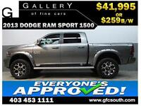 2013 DODGE RAM SPORT LIFTED *EVERYONE APPROVED* $0 DOWN $259/BW!