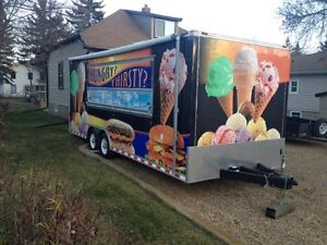 2008, 8' X 24' ICE CREAM CONCESSION TRAILER WITH ALL ACCESSORIES