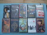 Music Videos VHS - Lot of 10 (Whitesnake/Sabbath/Purple/Clapton/Magnum/Satriani/Quo/McCartney/Twain)