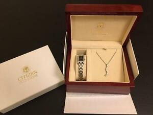 women's citizen watch with neckless (swarovski)