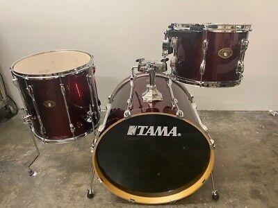 "Tama Rockstar Three Piece Drum Set Vintage Red 22/16/12"" StarCast Mounting"