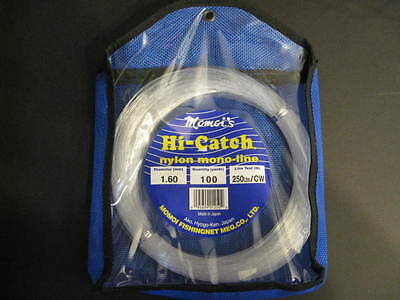 Momoi 250Lb 100Yds Clear White 01250 Hi-Catch Leader Coil ()