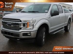 2018 Ford F-150 XLT, 300A, 5.0L V8, 4X4, SYNC, REAR CAMERA, TRAI