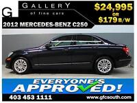 2012 MERCEDES C250 4MATIC *EVERYONE APPROVED* $0 DOWN $179/BW!