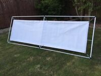 Outdoor advertising banner service