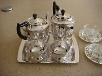 SILVER PLATE TEA SET VINERS OF SHEFFIELD IN GOOD CONDITION