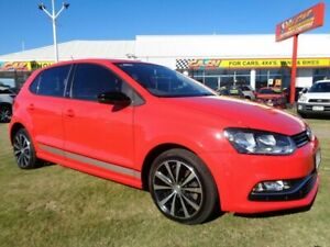 2016 Volkswagen Polo 6R MY17 81TSI DSG beats Red 7 Speed Sports Automatic Dual Clutch Hatchback Kippa-ring Redcliffe Area Preview