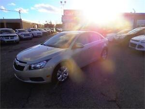 2012 CHEVROLET CRUZE LTw1SA CLEAN LOW KMS EASY CAR FINANCING
