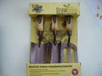 New gift boxed Spear & Jackson Weed Fork,Trowel &Transplanting Trowel set -bh5