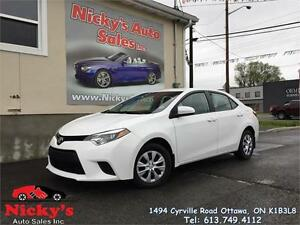 2015 Toyota Corolla CE -AUTOMATIC -BLUETOOTH -FACTORY WARRANTY!