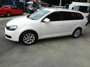 2010 Volkswagen Golf 1K MY11 103 TDI Comfortline White 6 Speed Direct Shift Wagon Coopers Plains Brisbane South West Preview
