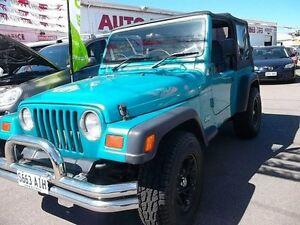 1997 Jeep Wrangler TJ Sport (4x4) Green/Blue 5 Speed Manual 4x4 Softtop Kilkenny Charles Sturt Area Preview