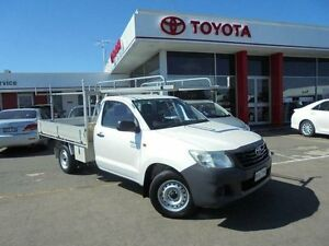 2011 Toyota Hilux TGN16R MY11 Upgrade Workmate Glacier White 5 Speed Manual Cab Chassis Belmore Canterbury Area Preview