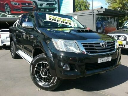 2013 Toyota Hilux KUN26R MY12 SR5 (4x4) Black 5 Speed Manual Dual Cab Pick-up Greenacre Bankstown Area Preview