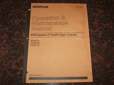 Cat Caterpillar D7h Ii Operation Maintenance Manual Sn 5bf 2rg 3xg 4fg 4000-up