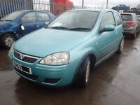 2003 Vauxhall Corsa C Design Breaking Z397 Green Engine Door Seat Windscreen Tyre