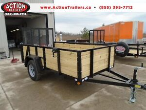 ALL PURPOSE UTILITY TRAILER W/HIGH SIDES 5 X 10 + RAMP GATE