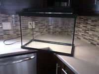 Barely used aquarium with accessories and silent filter! SOLD