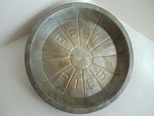 Vintage Pie Pan Best Pies 8 inch Rustic