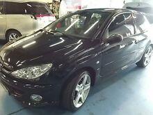 2004 Peugeot 206 T1 MY04 GTI 180 Black 5 Speed Manual Hatchback Haberfield Ashfield Area Preview