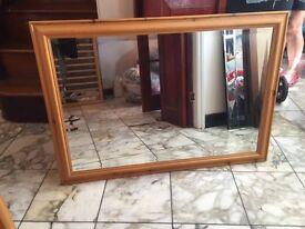 Oak wood framed mirror. going cheap. only £20.