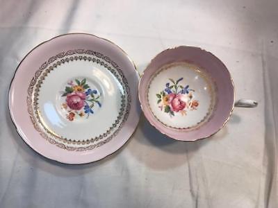 Royal Grafton Cup & Saucer Set Fine Bone Vintage China Made in England Pink