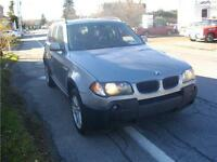 BMW X3 2.5L 2006,2 EN STOCK 142000 KM ,AWD .6 CYL , FULL , CUIR,